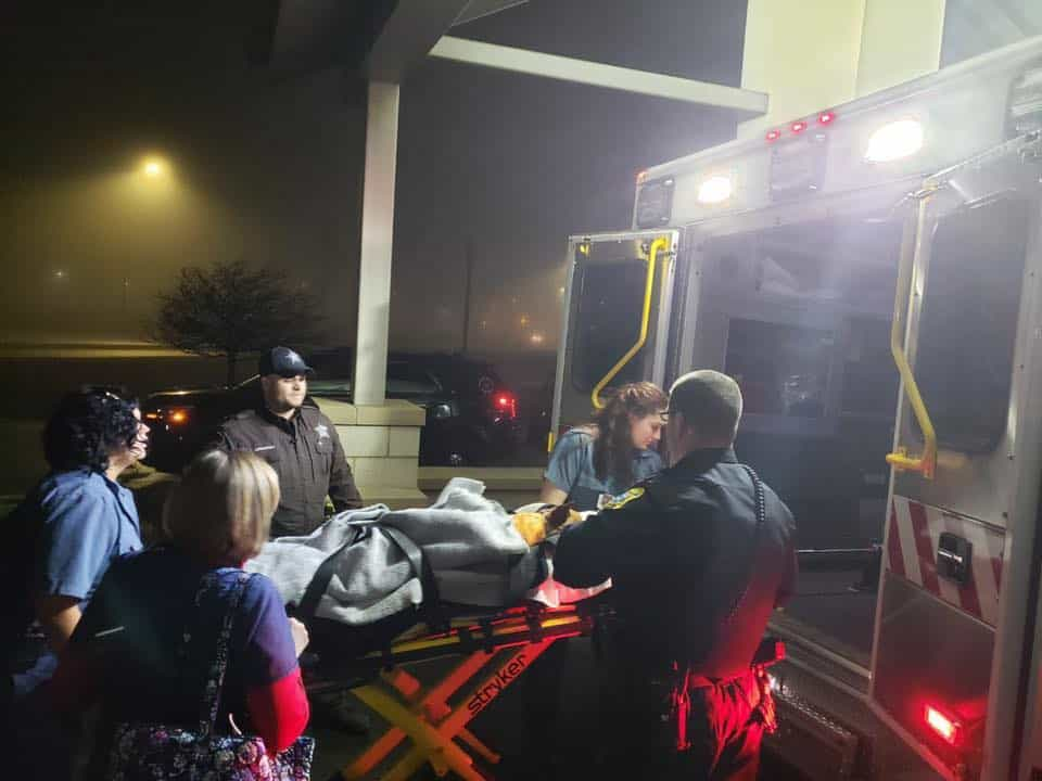 K9 Pyro in ambulance